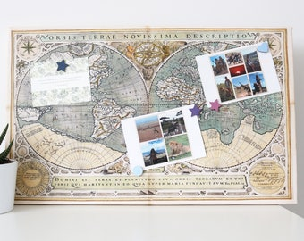 Map Magnetic Noticeboard
