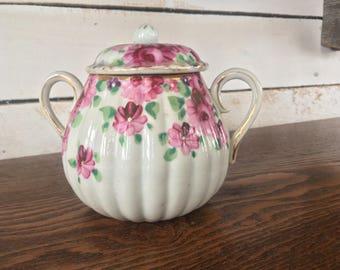 Floral Sugar Bowl