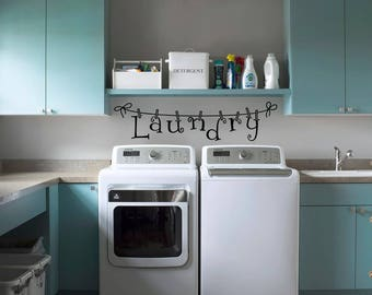 Laundry Decals | Laundry room decal | Laundry room decor | Laundry room wall sticker | Wall decor | Wall art