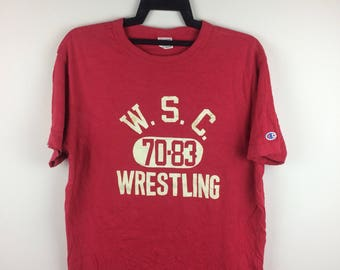 MEGA SALE !! Champion Products Wsc Wrestling Tshirt Sportwear Brand Medium Size