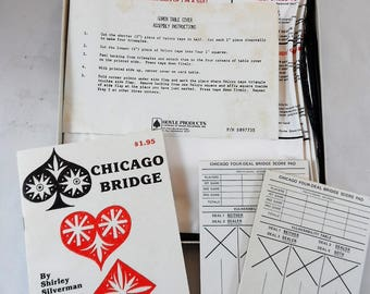 Hoyle Products 1983 Chars. H. Goren Card Table Cover for Beginner Bridge with original box