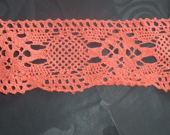 lace cotton orange width 5.5 cm of superb quality new