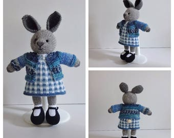 Knitted Little Girl Bunny