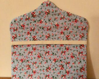 Floral Peg Bag. Lined and Washable. Perfect for a house warming gift or Present (see optional fabric)