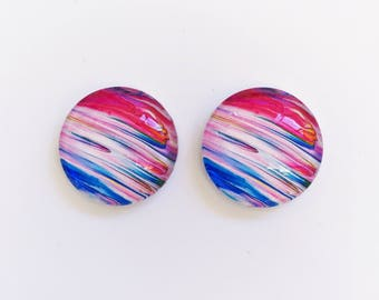 The 'Evie' Glass Earring Studs