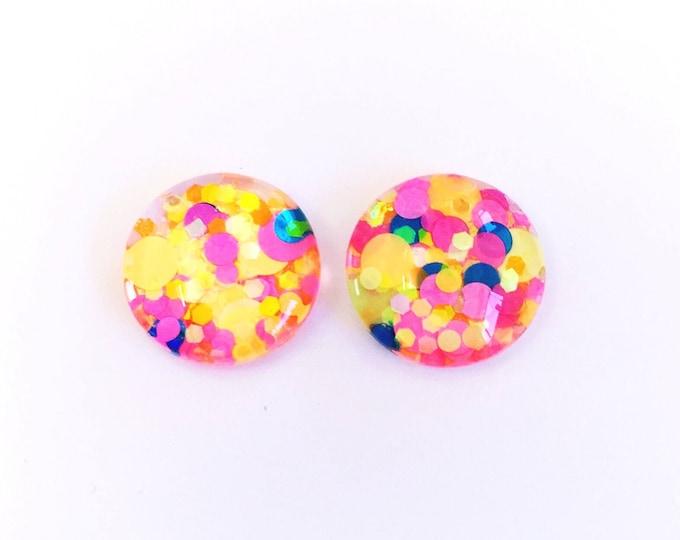 The 'Fruit Tingle' Glass Glitter Earring Studs