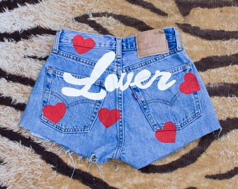DESERT FOX If You Wanna Be My Lover Heart Levi's Shorts