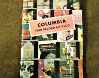 Vintage 40s Record Catalog Columbia Records 1948