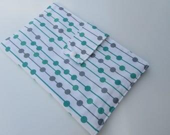 Nappy Wallet - Green Grey Spots
