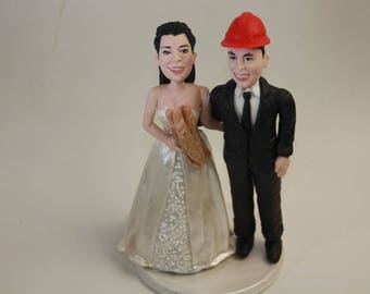 Personalised Wedding Cake Topper. Wedding keepsake. The bride and groom engineer.  Cake topper.Cake decoration. Party Supplies.