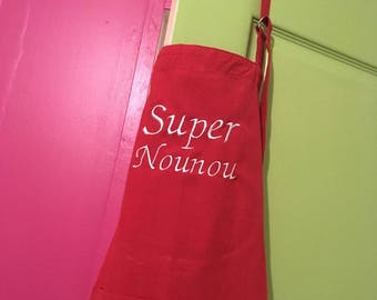 Personalized apron for a great nanny