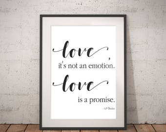 Love is a Promise Instant Download Print