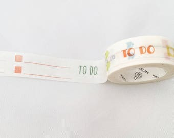 To Do Washi Tape, Functional Stickers