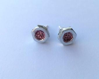 GLITTER NUT earrings - INDIGO by Anna Szoke
