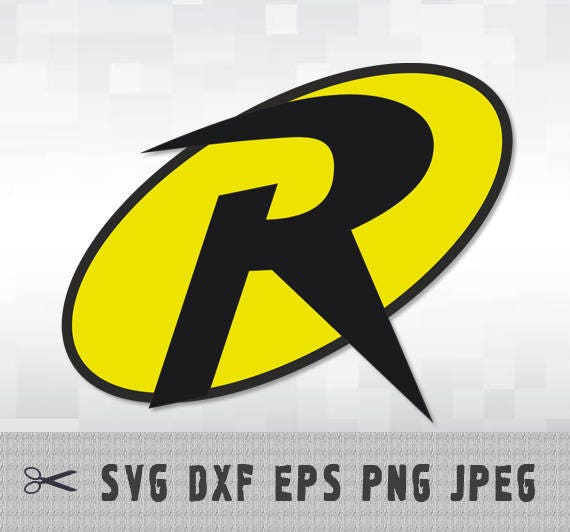 Robin Superhero SVG PNG DXF Logo Layered Vector Cut File