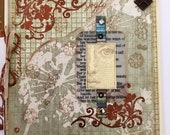 Mothers Day Card Handmade Grey Cream Silver Copper