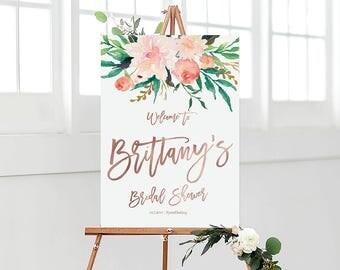 Bridal Shower sign, Bridal Shower Welcome Sign, Bridal Shower decoration, PRINTABLE Welcome sign, Bridal shower welcome sign - US_BS0104b