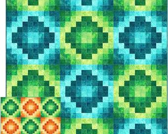 Unfolding Diamonds Quilt Pattern