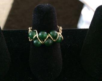 Jade Ring  size 4 1/2