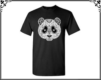 Panda Face Men's T Shirt Panda T shirt Funny T shirt Party T shirt Men's T shirt Men's Tees Men's Shirt Gift For Him