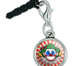 Clown Happy Face Mobile Cell Phone Headphone Jack Anti-Dust Charm fits iPhone iPod Galaxy