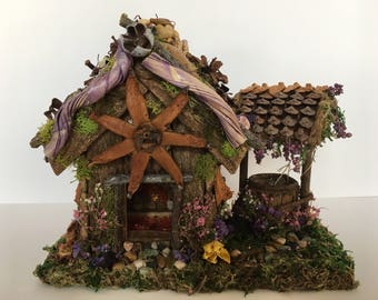 Fairy House with Wishing Well