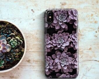 iPhone 8 Case Purple Succulents Phone case iPhone x Case 6 iPhone 7 PLUS Case iPhone 10 Case iPhone 7 Case iPhone 7 plus Case Gift