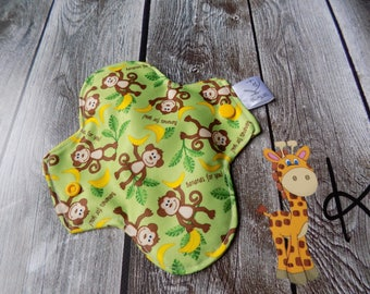 Pantyliner, Period Pads, Incontinence Cloth, Eco-friendly, Woman  hygiene, Zero-waste,Reusable , Monkey