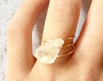 Tripple Laced Quarts Crystal Ring