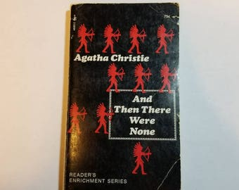 1971 SC And Then There Were None Agatha Christie Washington Square Press Reader's Enrichment Series (Ten little Indians)