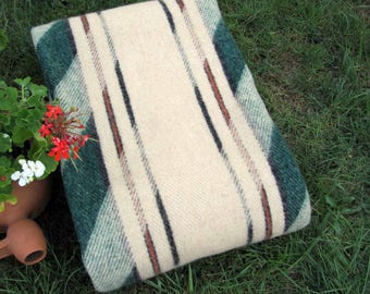 Pure Wool Blanket, Wool throw,  Tartan 100% Organic wool! Made in EUROPE!, Gift for him, New home gift, Cozy home