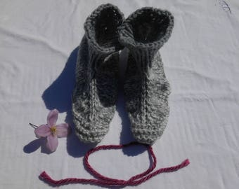 knitted adult indoor slippers