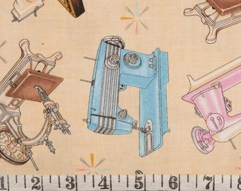 RJR Sew in love fat quarter vintage sewing machines