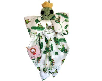 The frog Prince, stitchable with embroidered name