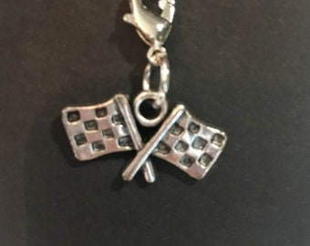 Checkered Flag Zipper Pull