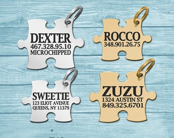 Dog Tag, Pet Tags, Pet ID Tags, Personalized Dog Tag, Dog ID Tag, Custom Pet Tag, Puzzle Dog Tag, Engraved Dog Tag, Tag For Dog