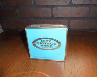 Vintage City Savings Coin Bank