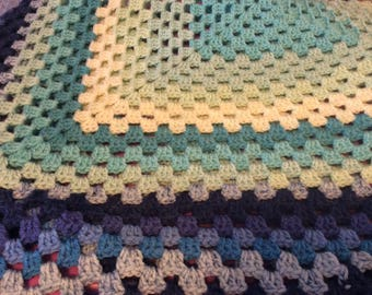 Shades of blues baby blanket