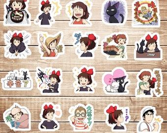 20 PCS kiki's delivery service Die cut stickers,Cute Sticker, Decorative Stickers,Planner Stickers,Japanese Stickers,Kawaii Stickers