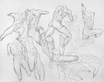 Life Model ~ Gesture Drawing | . b M p_004 |