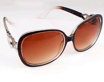 Snap Button Sunglasses Retro Fit Brown or Red Gingersnaps