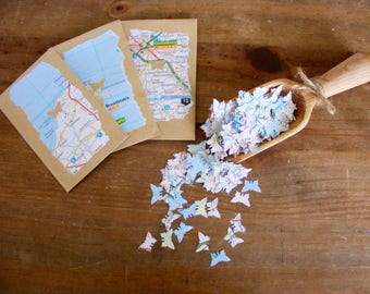 Map butterfly confetti in individual envelopes 200 confetti butterflies per envelope.