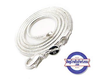 "Snake Chain - Silver Plated, Choose 16"" 18"", 20"", 24""  +FREE SHiPPiNG & Discounts*"