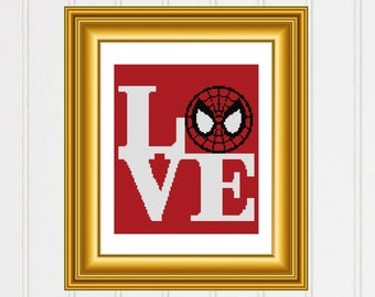Spiderman cross stitch pattern/avengers cross chart/marvel cross stitch/spiderman pattern/spider cross stitch/ #03-005