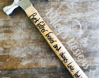 Custom hammer. Wedding gift. Anniversary. Hammer. Gift. Custom. Fathers day. Custom gift  .