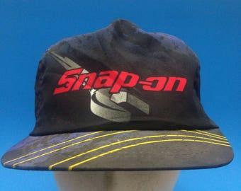 Vintage Snap On Trucker SnapBack Hat Adjustable 1980s