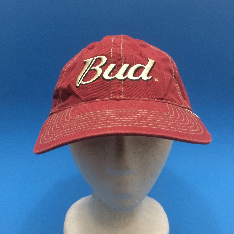Vintage Budweiser Strapback Hat Adjustable 1990s Dale Earnhardt Jr Beer  Nascar cold one e6d71aa41198