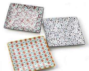 24X24X Porcelain 2.5 cm square tray