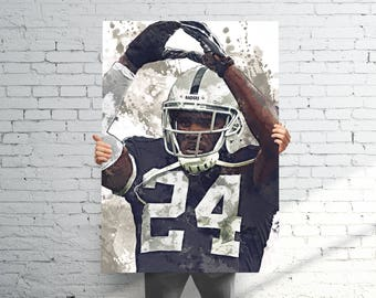 Charles Woodson Oakland Raiders - Sports Art Print Poster - Watercolor Abstract Paint Splash - Kids Decor - Gifts for Men - Man Cave