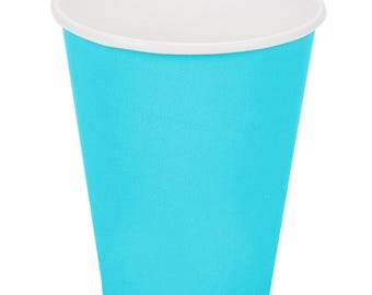50 Ct Bermuda Blue Poly Paper Cups 9oz Hot/Cold, Party Supplies, Wedding Supplies, Party, Wedding, Paper Cups, Beverage Cups, Cups